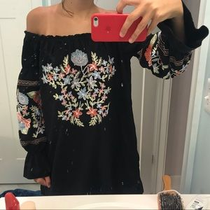Free People off the shoulder dress